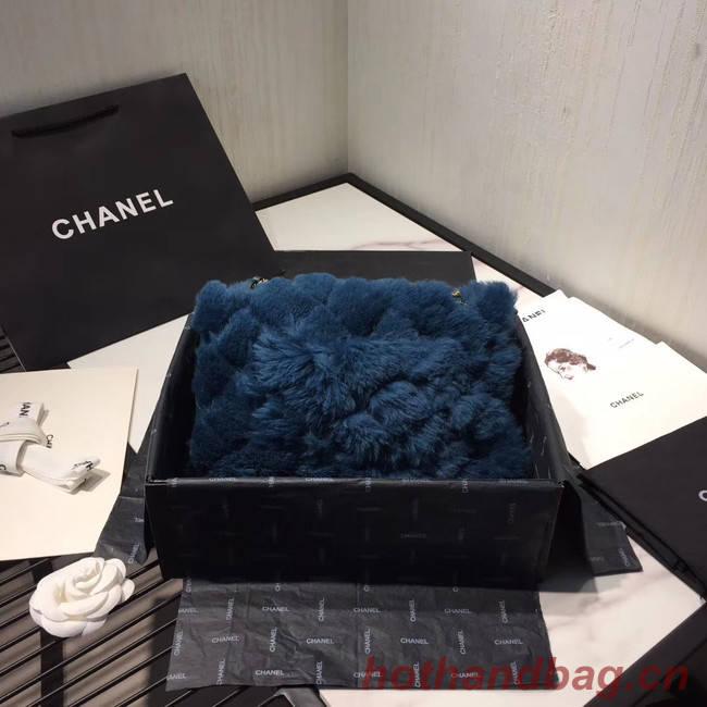 Chanel flap bag Wool sheepskin &Gold-Tone Metal AS1063