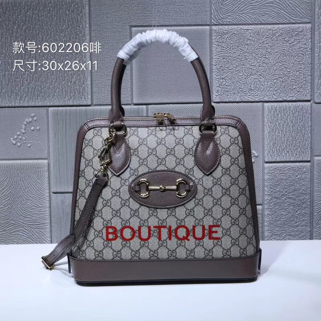 Gucci Ophidia small GG tote bag 602206 brown