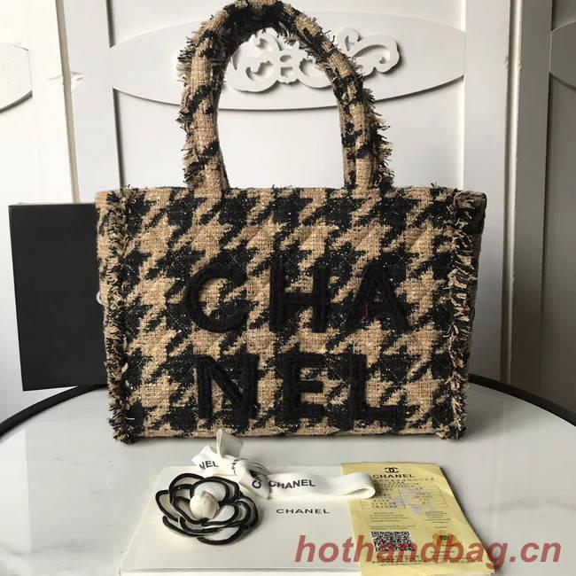 Chanel Zipper shopping bag AS0976 apricot