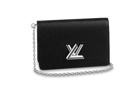 Louis Vuitton TWIST BELT CHAIN WALLET M68559 black