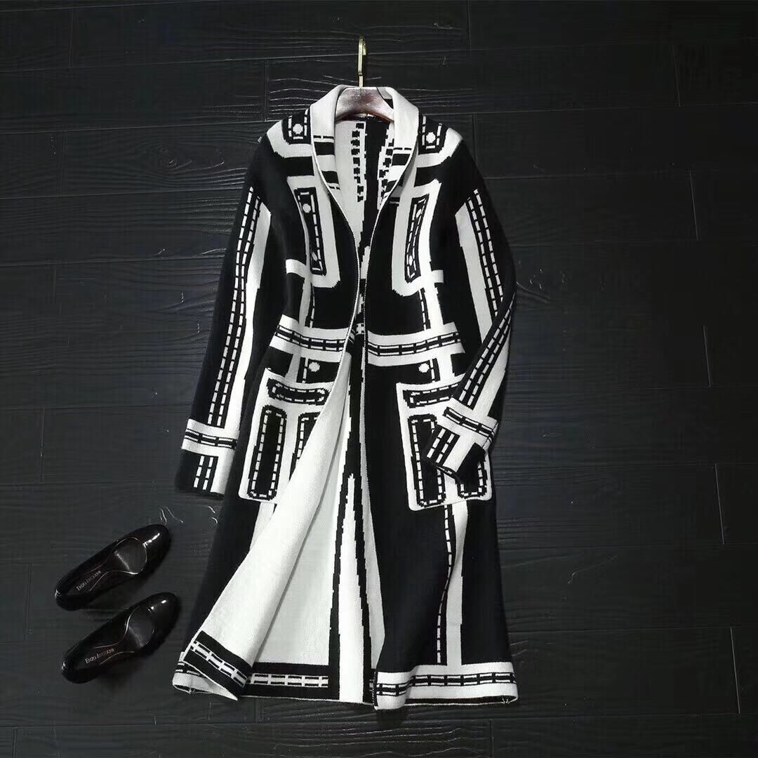 Chanel Top Quality Fashion Clothes CH3268 Black&White
