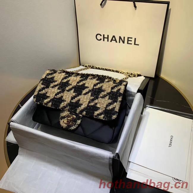 CHANEL 19 Flap Bag AS1154 Black&apricot