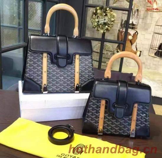 Goyard Y Doodling Calfskin Leather Tote Bag 9956 Black