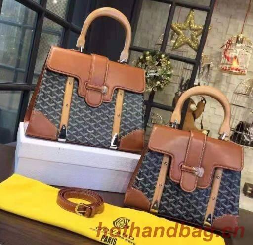 Goyard Y Doodling Calfskin Leather Tote Bag 9956 Brown