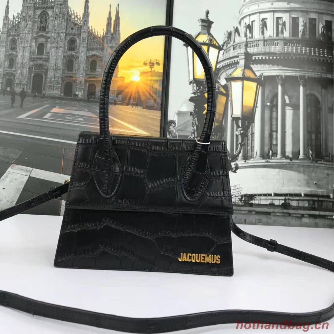 Jacquemus Original Leather Mini Top Handle Bag J8088 Black