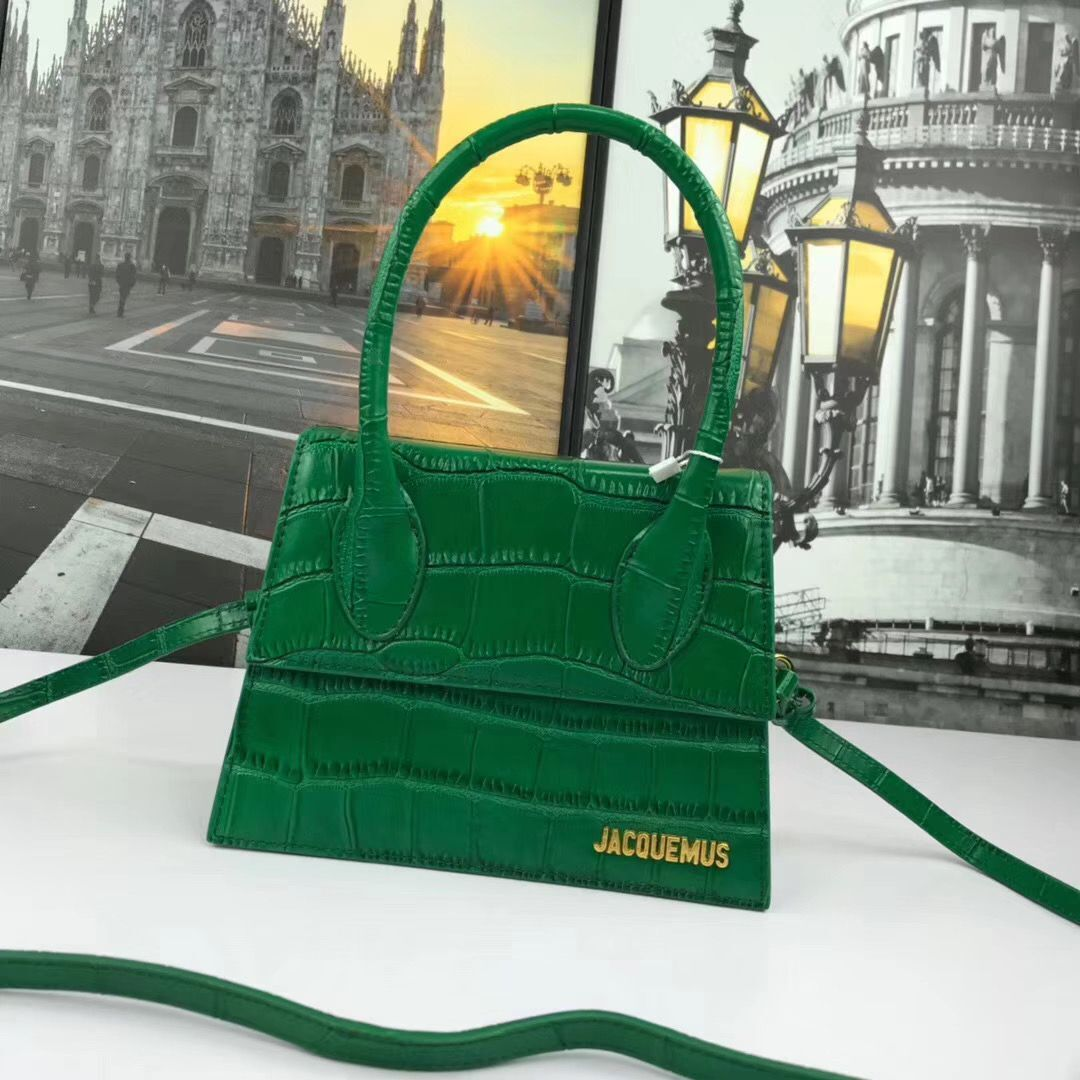 Jacquemus Original Leather Mini Top Handle Bag J8088 Green