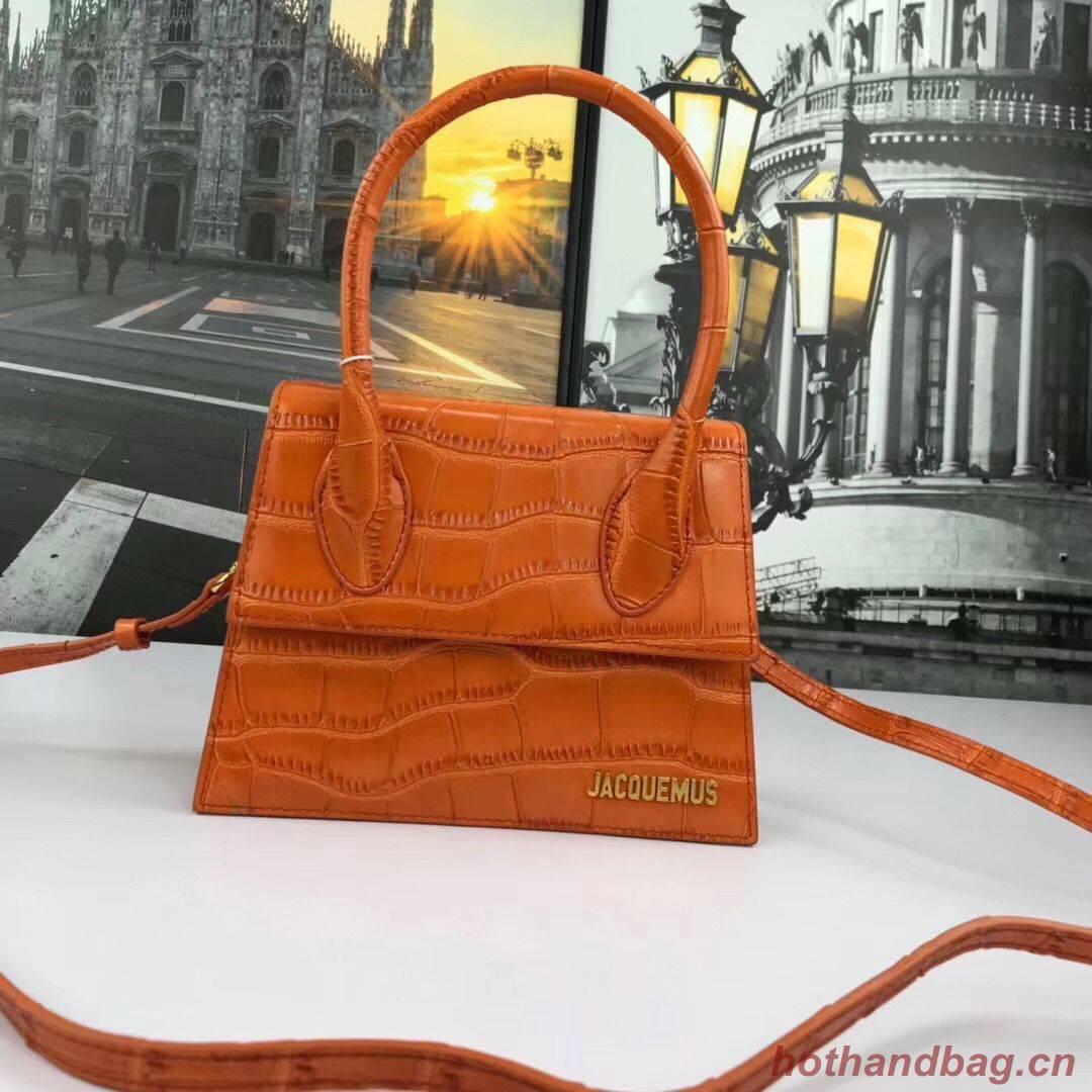 Jacquemus Original Leather Mini Top Handle Bag J8088 Orange