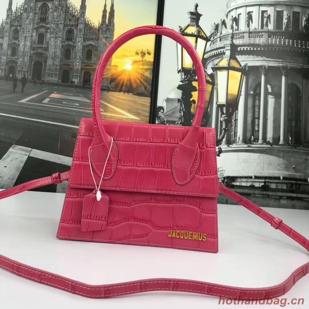 Jacquemus Original Leather Mini Top Handle Bag J8088 Rose