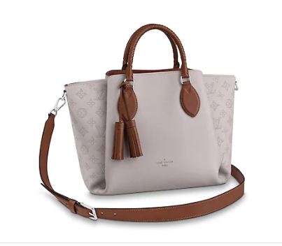 Louis Vuitton original Mahina Leather HAUMEA M55553 Brume Grey