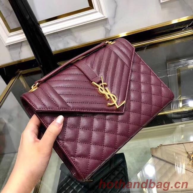 SAINT LAURENT Medium satchel 487206 Burgundy