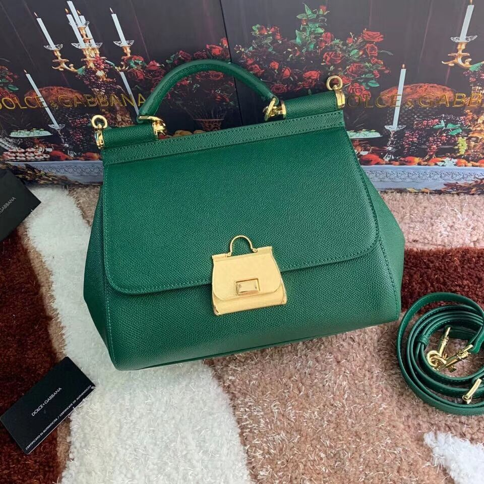 Dolce & Gabbana Origianl Leather Bag 4131 green