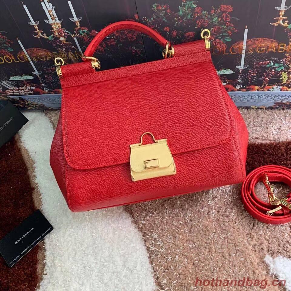 Dolce & Gabbana Origianl Leather Bag 4131 red
