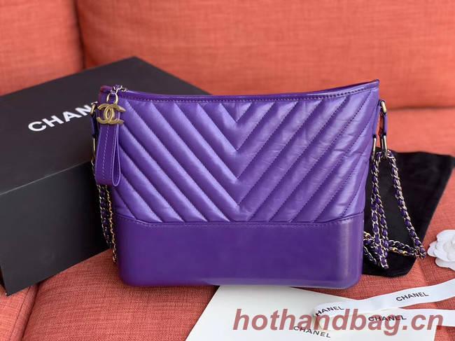 Chanel gabrielle hobo bag A93824 purple