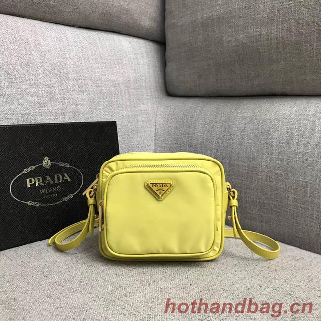 Prada Nylon Shoulder Bag 82022 yellow