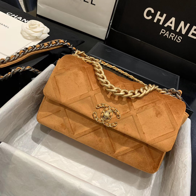 CHANEL 19 Flap Bag AS1160 Camel