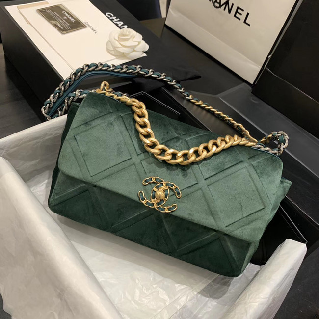 CHANEL 19 Flap Bag AS1160 green