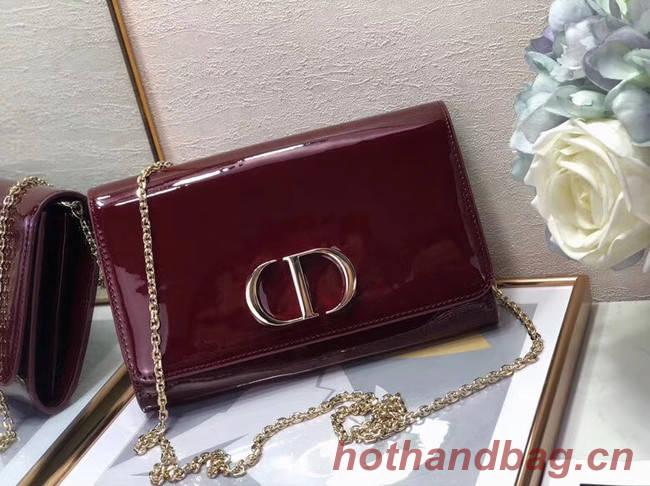 Dior leather Clutch bag M9205 Burgundy