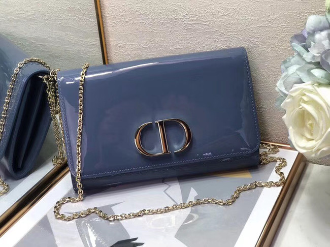 Dior leather Clutch bag M9205 blue