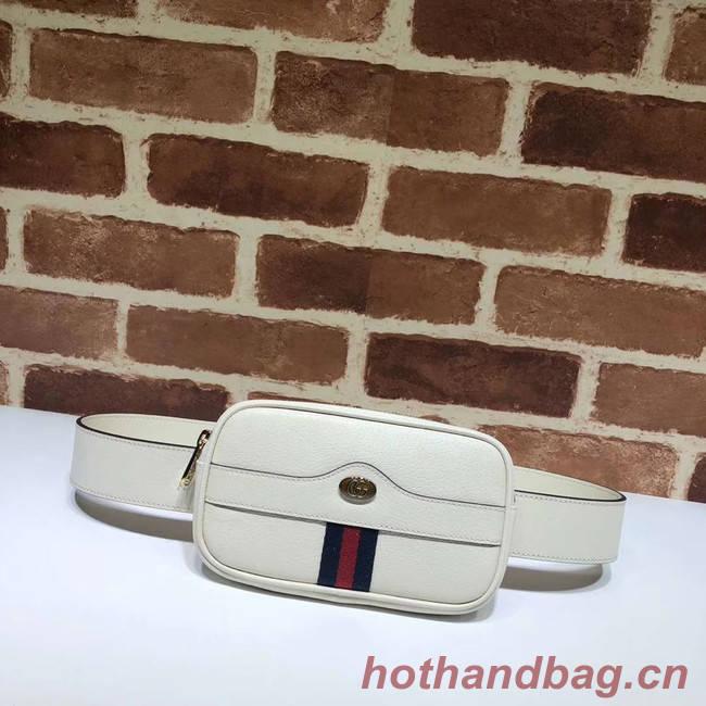 Gucci GG Original Leather belt bag 519308 white