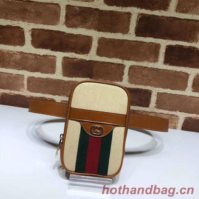 Gucci Soft GG Supreme belt bag 581519 brown