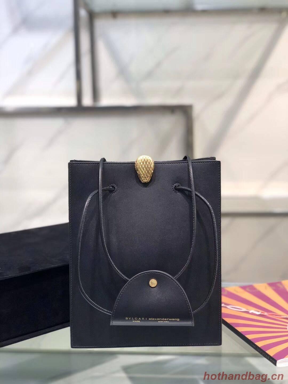 BVLGARI Shoulder Bag Calfskin Leather B288728 black