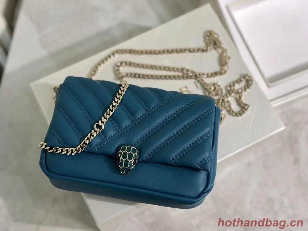 BVLGARI Shoulder Bag Calfskin Leather B288760 blue