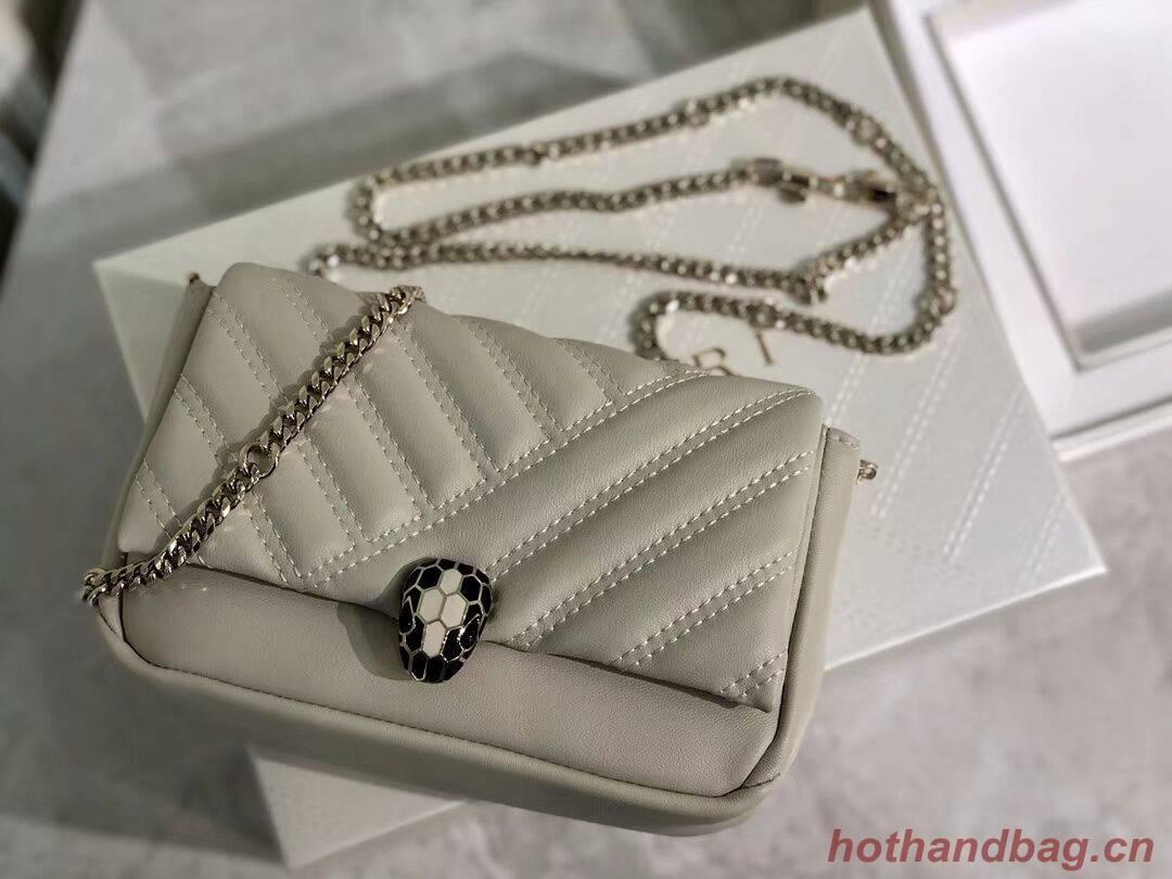 BVLGARI Shoulder Bag Calfskin Leather B288760 cream
