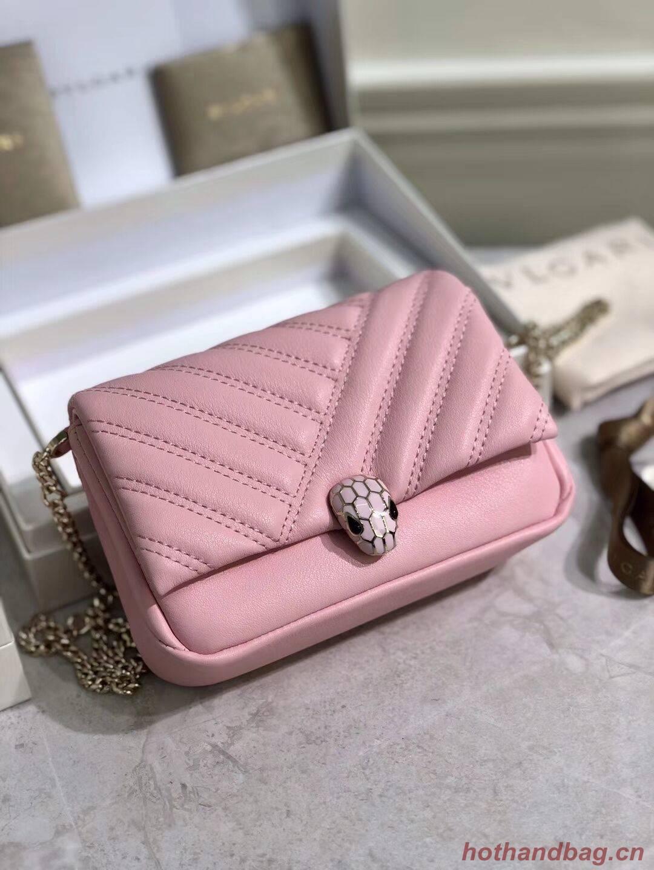BVLGARI Shoulder Bag Calfskin Leather B288760 pink