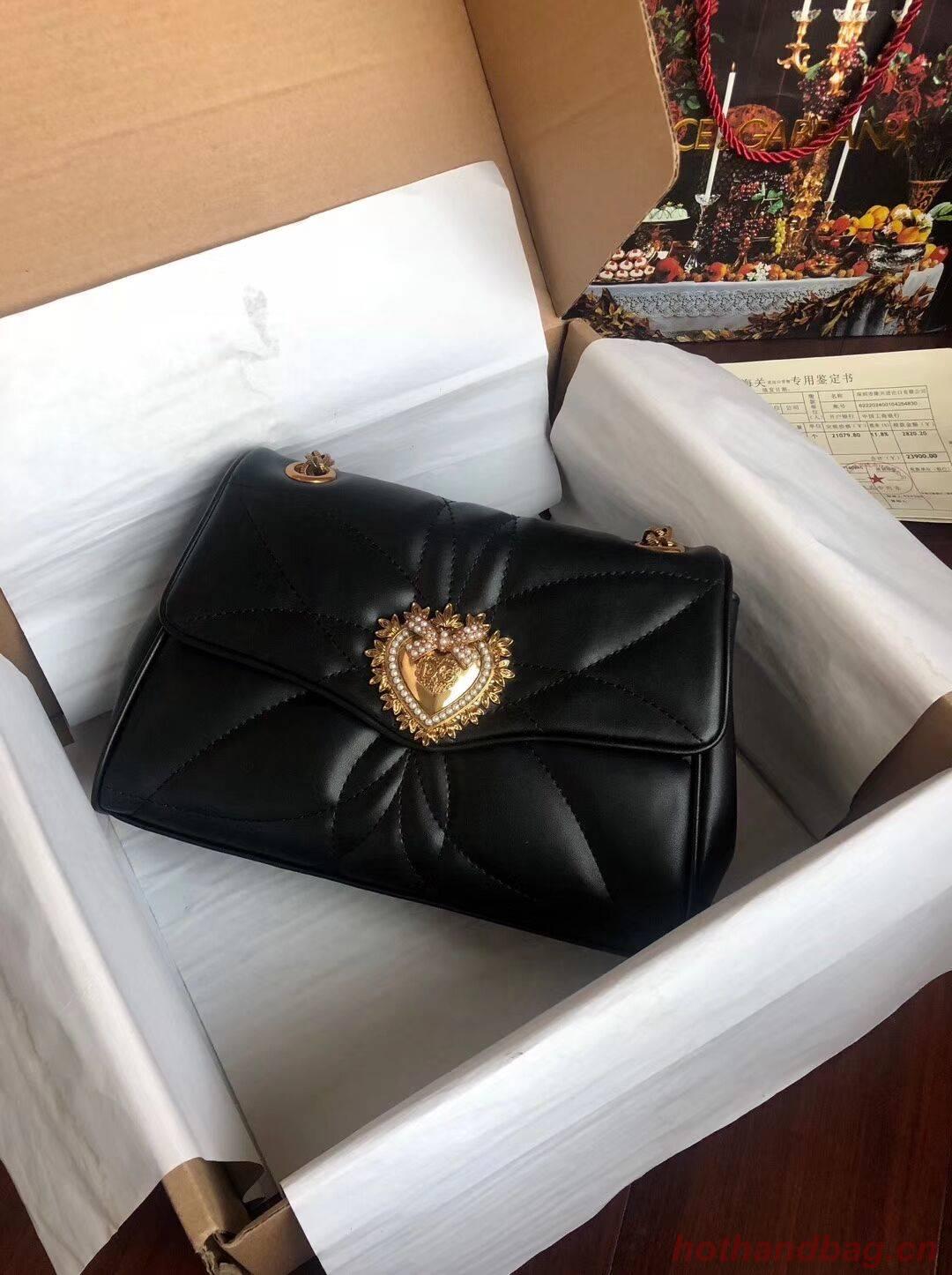 Dolce & Gabbana Origianl Leather Bag 4919 black