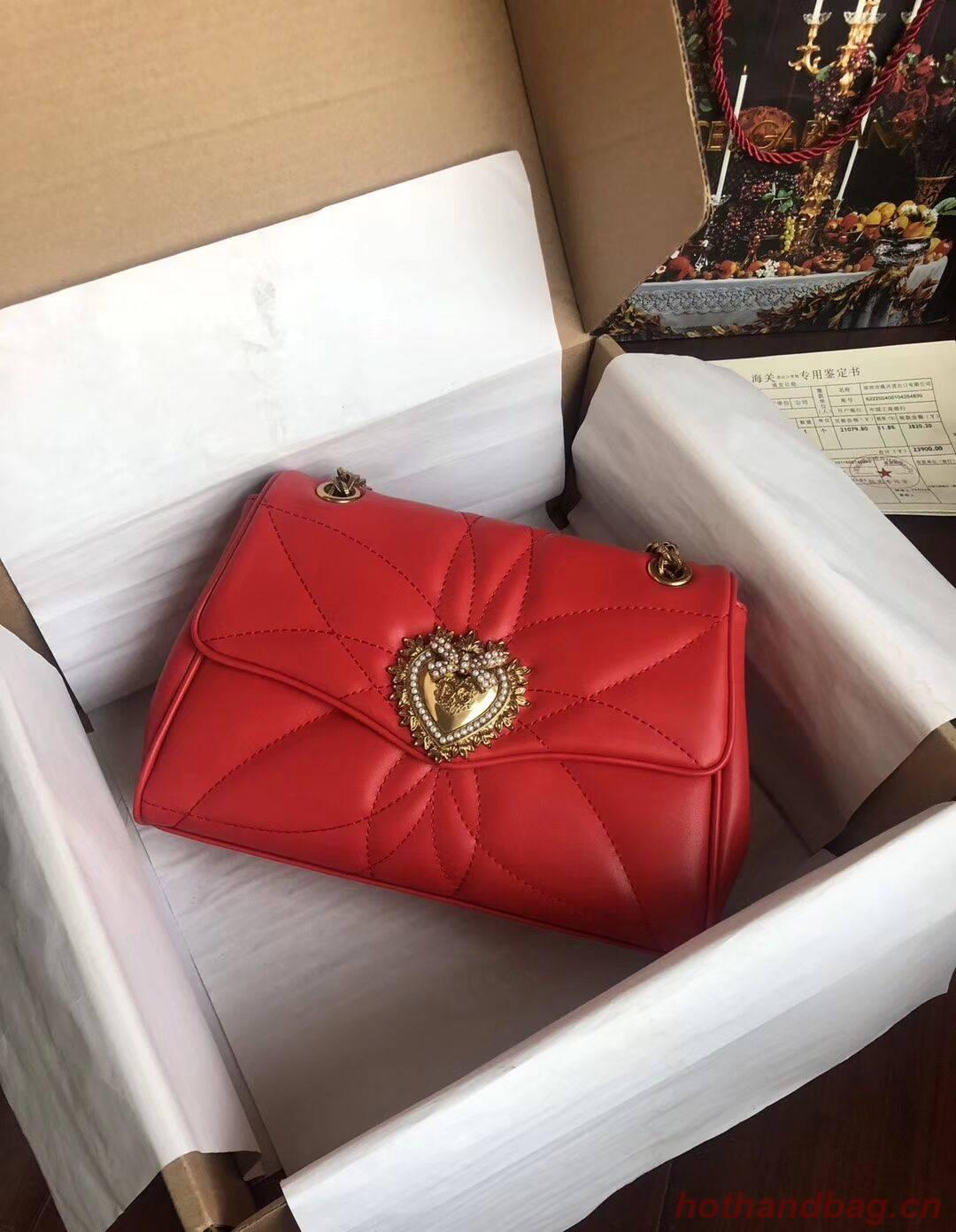 Dolce & Gabbana Origianl Leather Bag 4919 red