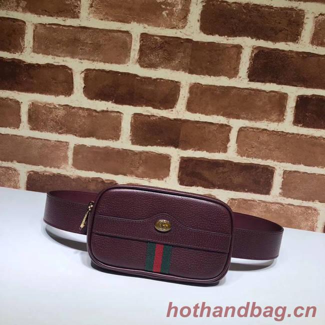 Gucci GG Original Leather belt bag 519308 Burgundy