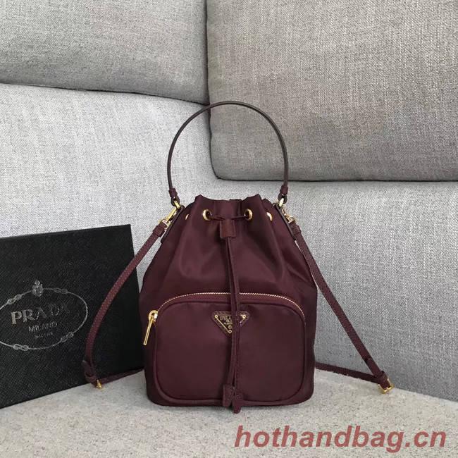 Prada Re-Edition nylon Tote bag 81166 Burgundy