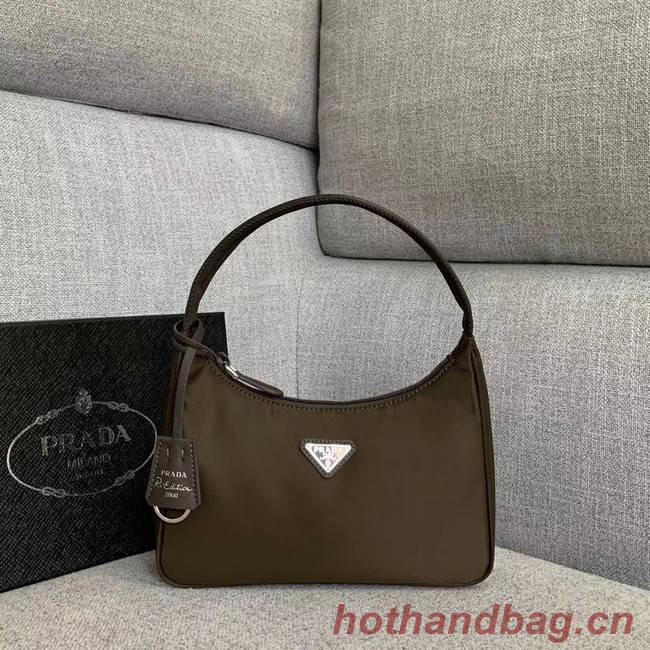 Prada Re-Edition nylon Tote bag 91204 Khaki