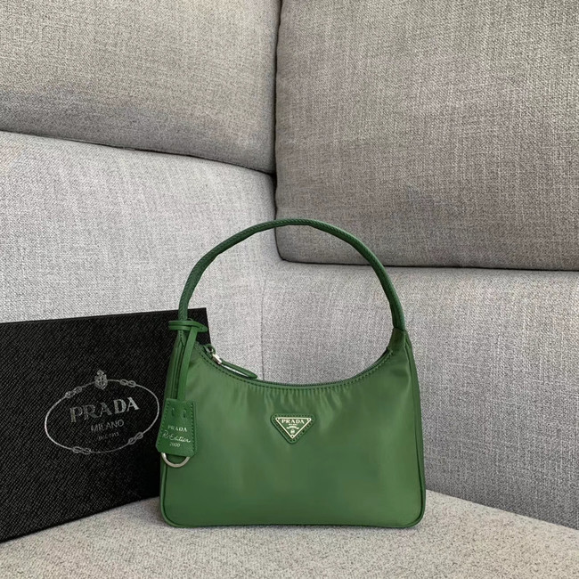 Prada Re-Edition nylon Tote bag 91204 green