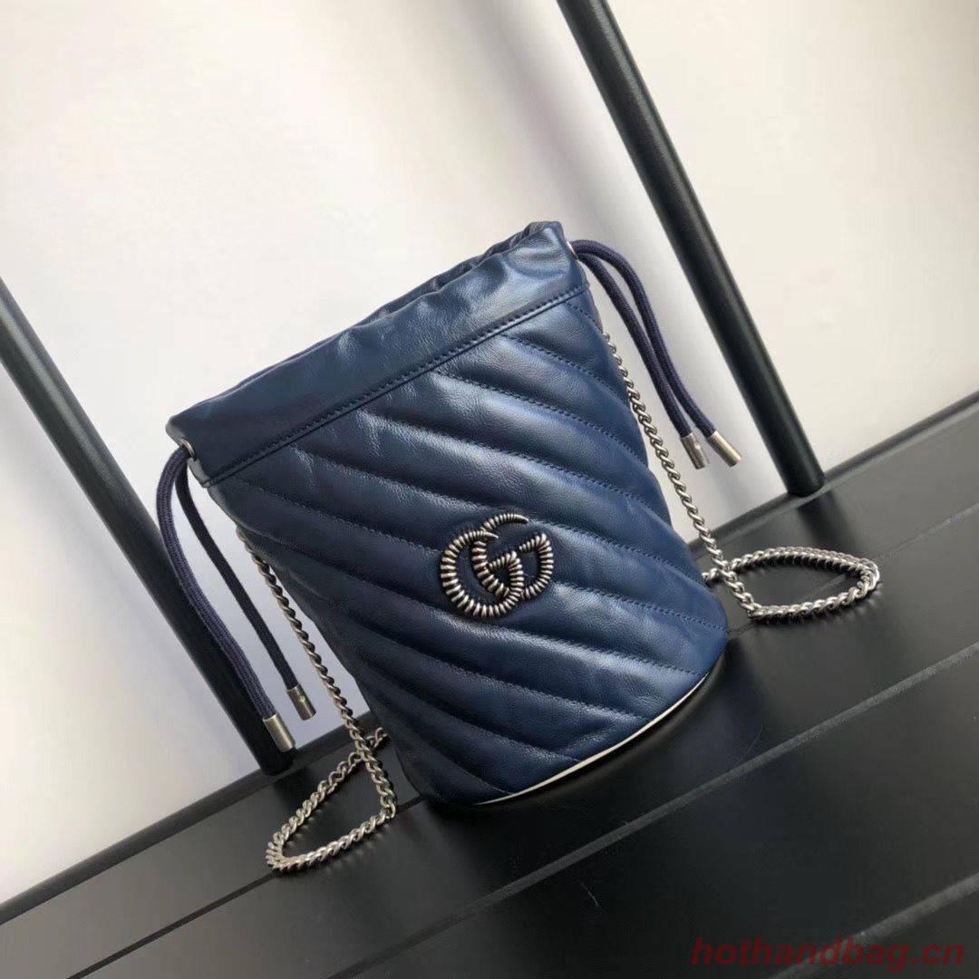 Gucci GG Marmont mini bucket bag A575163 Navy