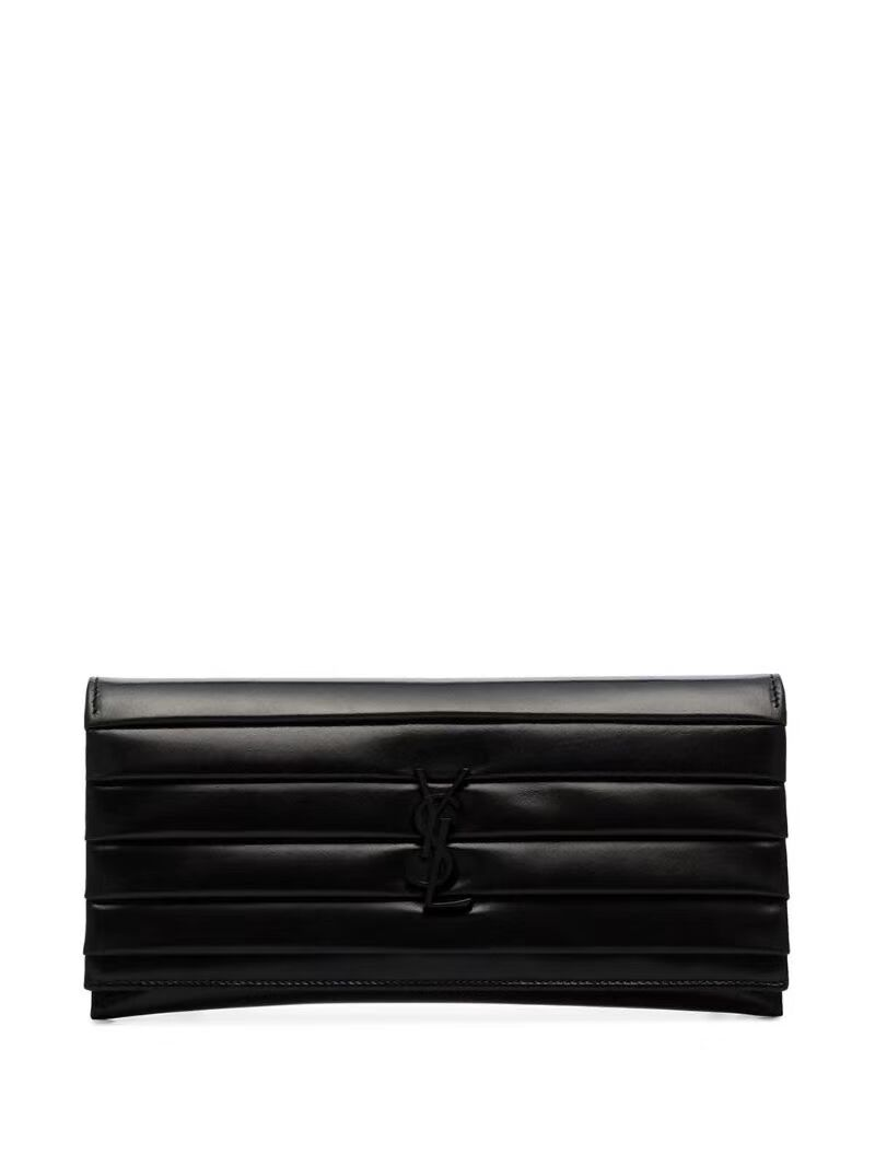 Yves Saint Laurent Original leather Clutch bag Y593168 Black