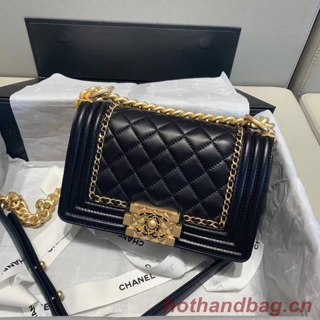 BOY CHANEL flap bag A67085 black