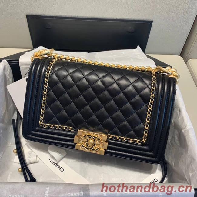 BOY CHANEL flap bag A67086 black