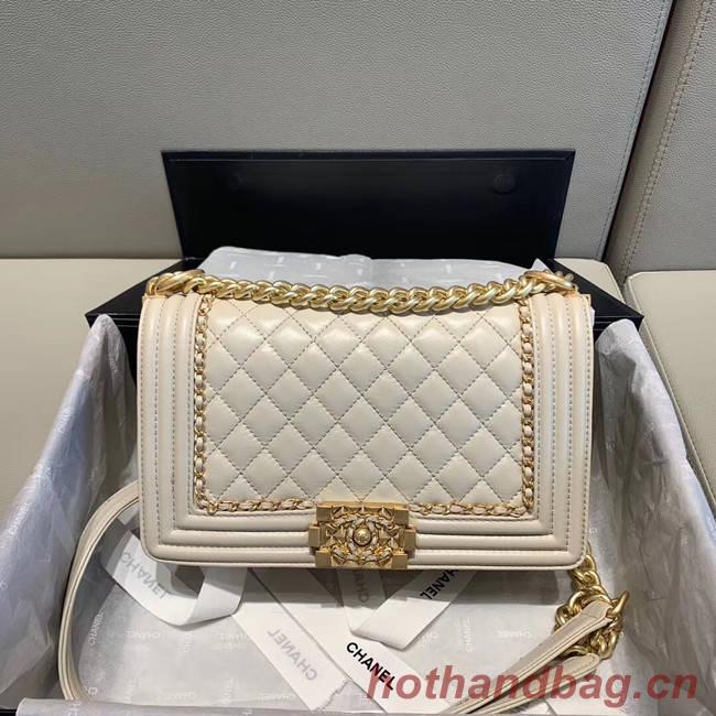 BOY CHANEL flap bag A67086 white