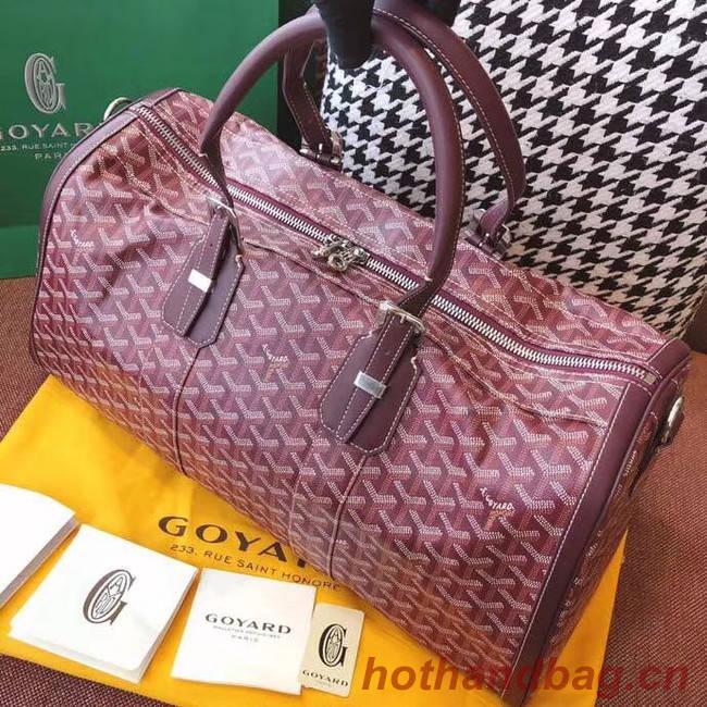 Goyard Canvas Travel bag 6958 Wine
