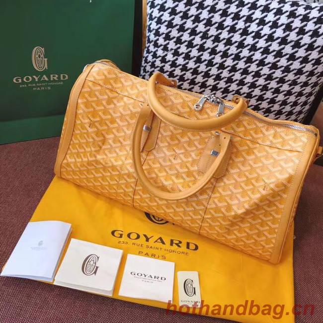 Goyard  Canvas Travel bag 6958 yellow