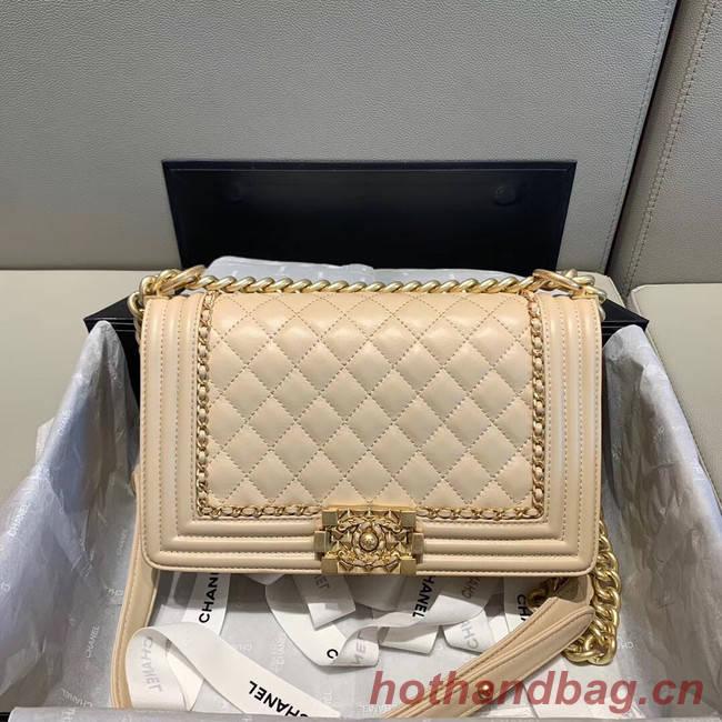 BOY CHANEL flap bag A67086 cream