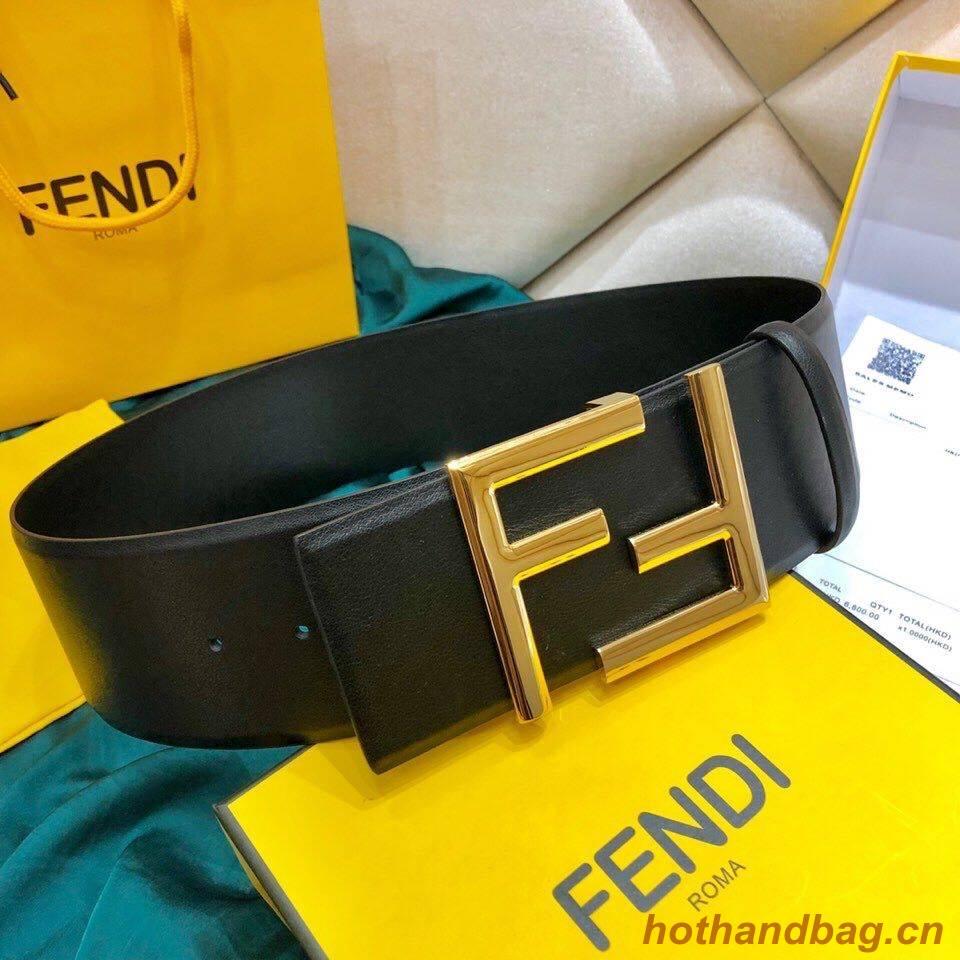 Fendi Leather Belt F2369 Black