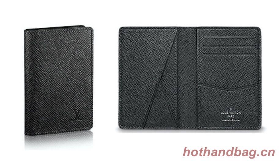 Louis Vuitton Original Leather Wallet M64498 Black