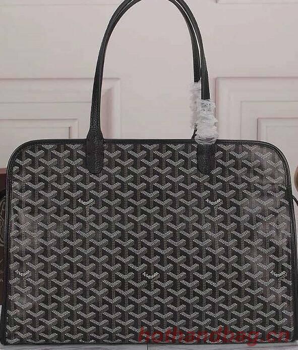 Goyard Calfskin Leather Tote Bag G5896 Black