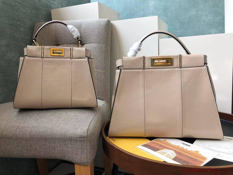 Fendi Peekaboo Iconic Mini Original Leather Bag FD3676 Apricot