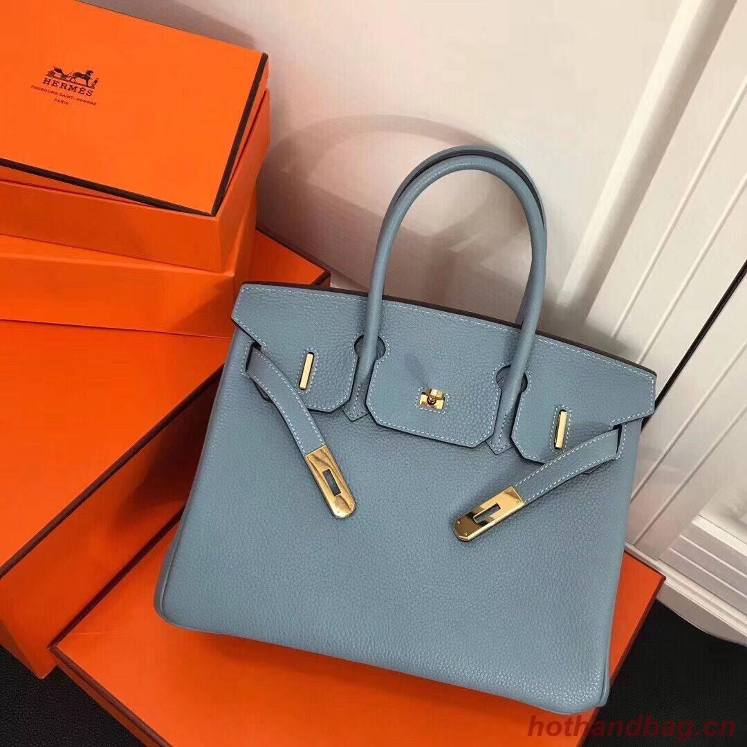 Hermes Birkin 25CM Tote Bag Original Leather H25T Blue