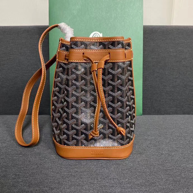 Goyard petit flot drawstring Bag G6959 black&brown