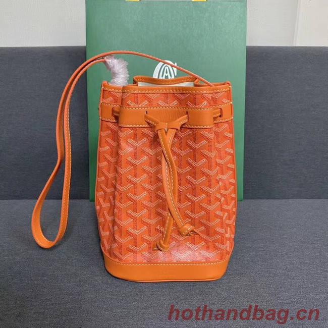 Goyard petit flot drawstring Bag G6959 orange