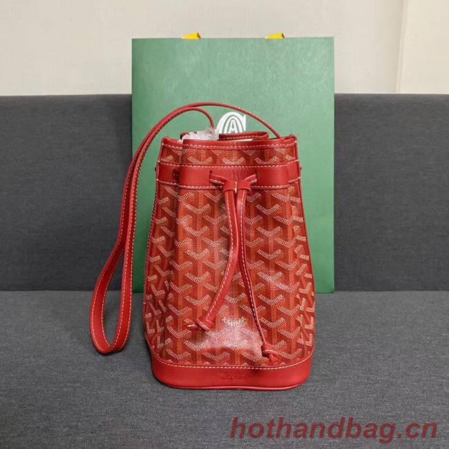 Goyard petit flot drawstring Bag G6959 red